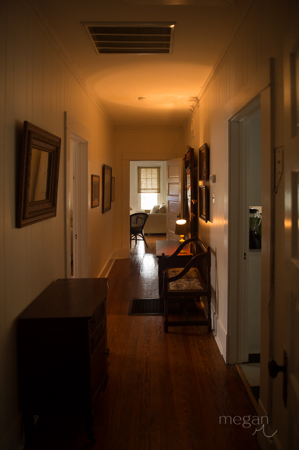 narrow hallway in 1910 cottage