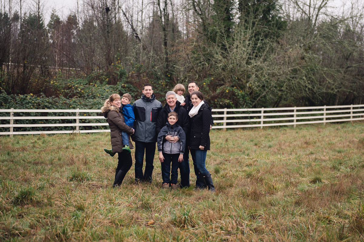 family portrait on rainy day in oregon by megan cieloha