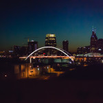 picture of nashville skyline at night by megan cieloha