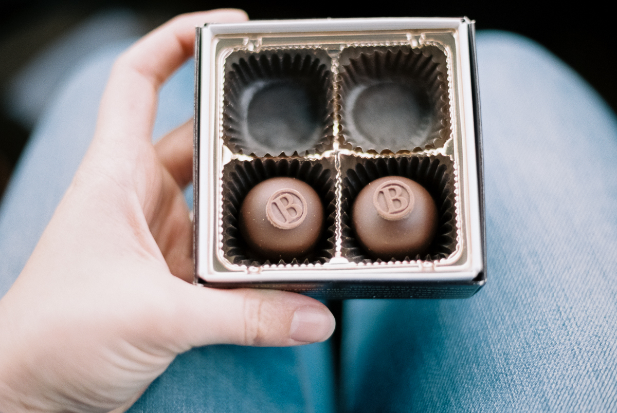 chocolate bourbon truffles portra 400 film image in natural light photo by megan cieloha