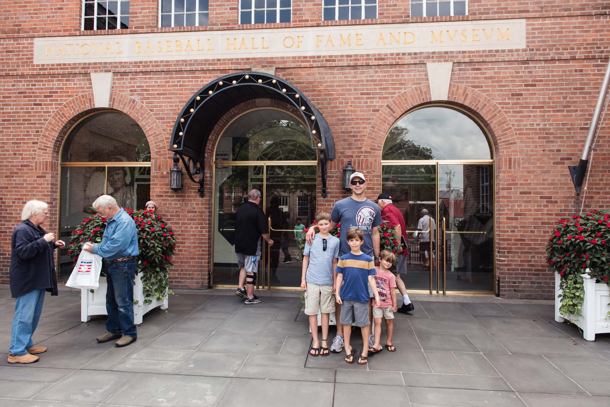 picture of family at cooperstown baseball hall of fame by megan cieloha