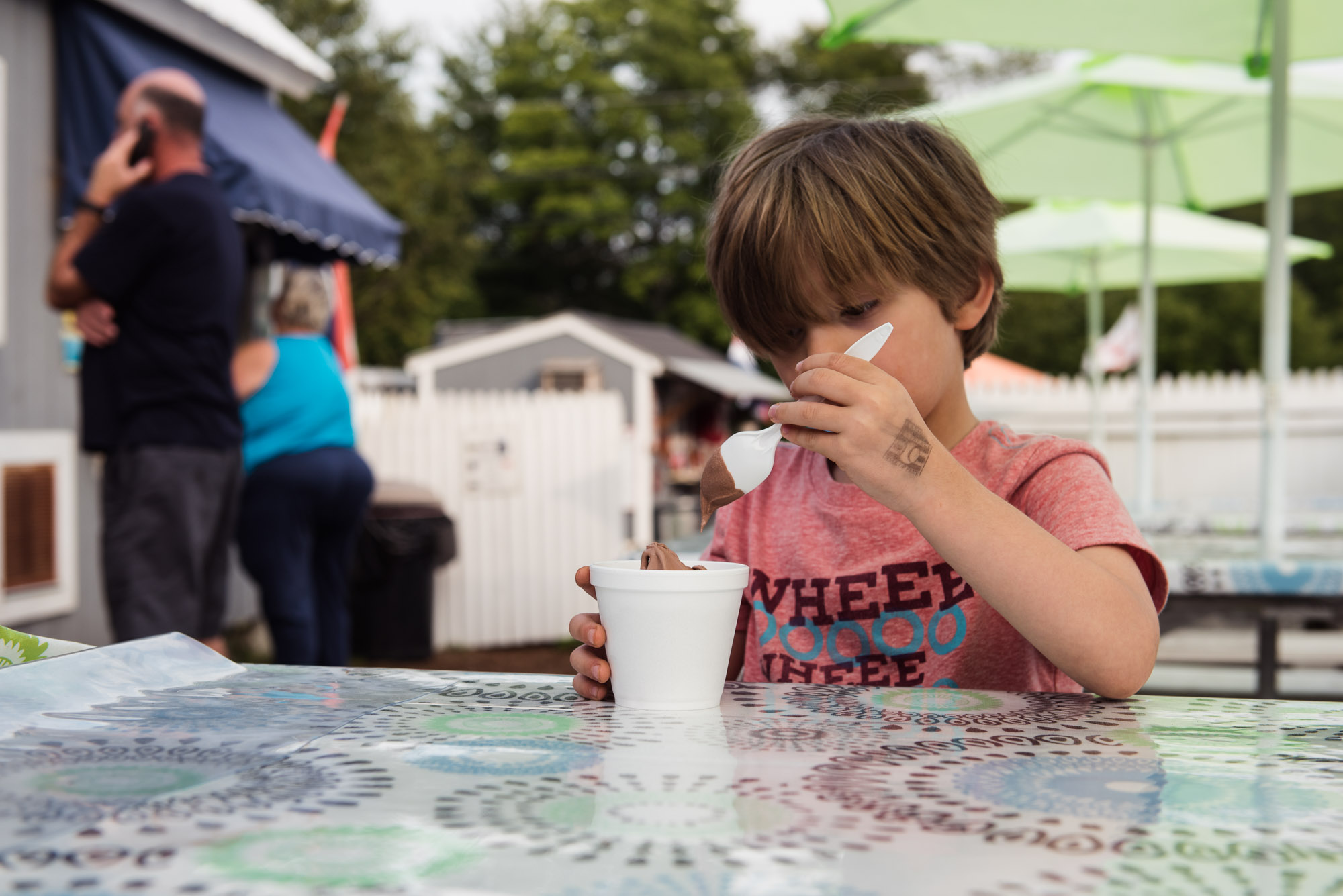 child eating ice cream at creemee stand in vermont picture by megan cieloha